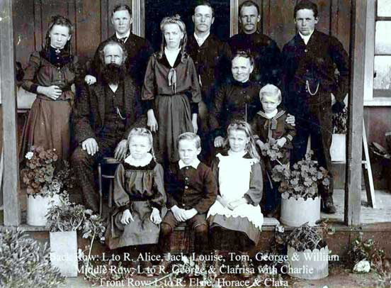 george and clarissa hickmott and family